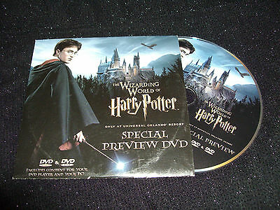 The Wizarding World Of Harry Potter Preview Dvd/Rom:promo:daniel Radcliffe:reg 2