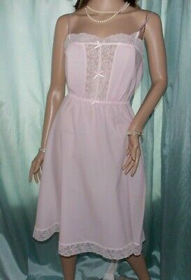 St Michael Pink Poly 1920's Style Elasticated Waist Flared Slip Petticoat 14 UK