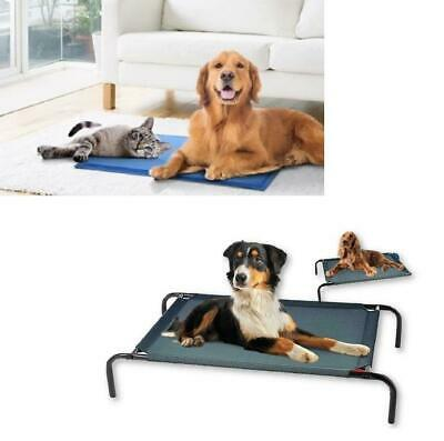 Cooling Gel Mat Or Elevated Bed For Cat Pet Self Cooling Pillow Summer Bed New