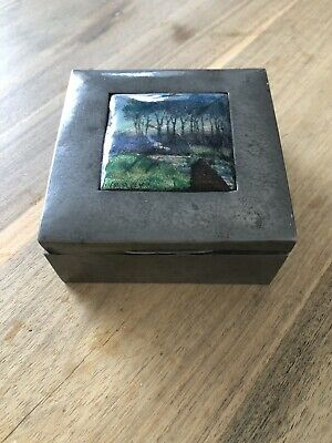 Liberty & Co English Pewter Box Tudric Charles Varley Arts & Crafts Antique