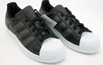 Adidas kids girls superstar J trainers Sneakers black size 4 1/2 EU  37 1/3 NEW