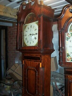Yates 8 Day Arch Dial Longcase Grandfather Clock Repair, Restoration Working.