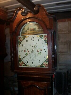 Radcliffe 30 Hour Arch Dial Longcase Grandfather Clock Slight Repair Restoration