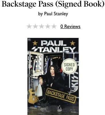 Kiss Backstage Pass Signed Edition Starchild Paul Stanley Autographed