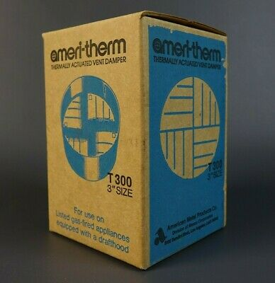 """Ameri therm T300 Thermally Activated 3"""" Vent Damper - New in Sealed Box"""