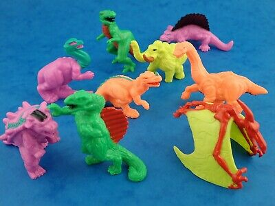 Bundle Lot Mini Figures DINOSAURS IN MY POCKET Small 1990's Toy Dino's MEG