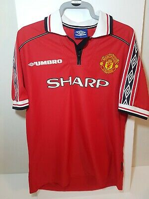 Manchester United 1998-2000 99 Man Utd Treble Season Home Shirt-Mens-Size XL-VGC
