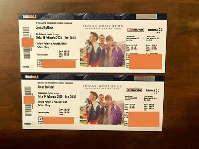 Jonas Brothers 2 Tickets PARTERRE EARLY ENTRY Milano 14/02