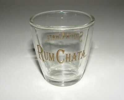Rum Chata Glass Shot-A-Chata Divided Shot Glass, Age Unknown, pre-owned