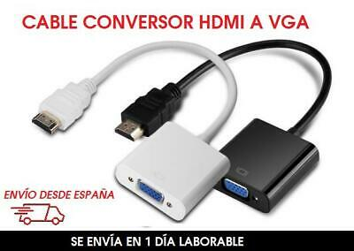 Cable conversor adaptador HDMI macho a VGA Hembra-HDMI to VGA 1080p