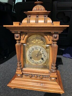 Antique Large Walnut Bracket Clock..working Perfect