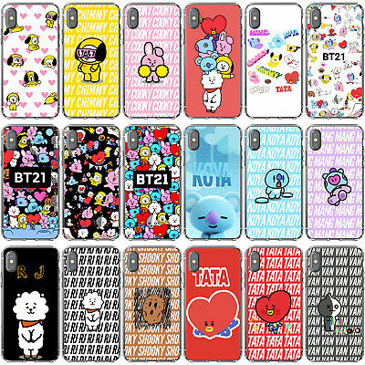 Silicone Phone case BTS BT21 TATA COOKY RJ CHIMMY MANG KOYA  For iPhone Cover