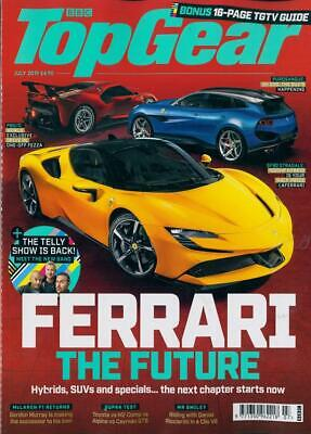 TOP GEAR MAGAZINE JULY 2019 (FERRARI: THE FUTURE, NEW McLAREN F1) NEW