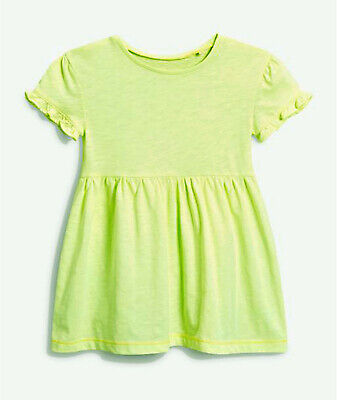 NEXT Girls Neon Green Dress, Age 5-6 Years BNWT