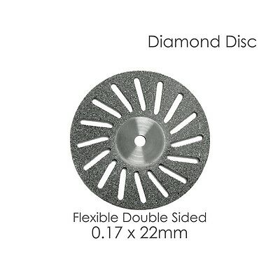1 Diamond Disc For Your Dental Lab Flex Double Sided .17 x 22mm Disk