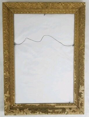 "Antique wood gesso picture frame French Baroque vintage 20"" x 28"""