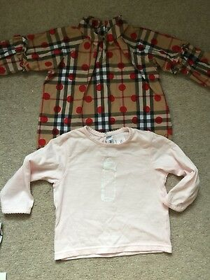 BNWOT& Used Once 2X Tops Girl Burberry Baby Dior 6-9 Months