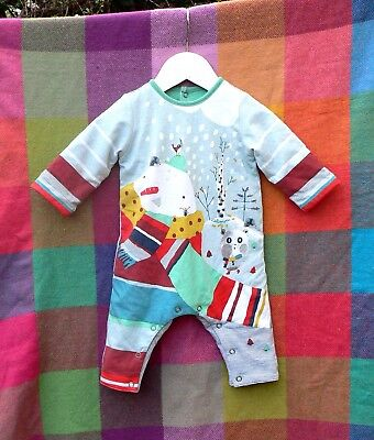 Catimin Baby Boys / Girls Long Jumpsuit with Winter Print - 3 Months - Padded