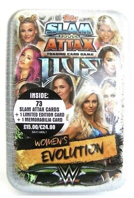 Topps WWE Slam Attax Live Mega Tin - Women's Evolution - Royal Mail 2nd Class