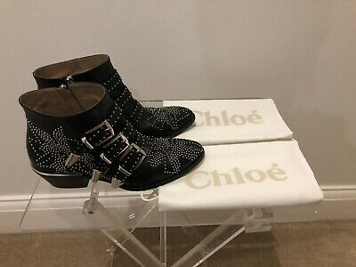 5167fdf0 CHLOÉ CHLOE SUSANNA Ankle Boots In Black leather Brand New 40.5, UK ...
