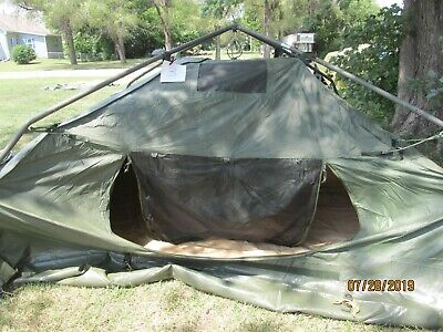 Military Soldier 5 Man Crew Tent Army Hunting C&ing 10X10 C&ing Us Excellent : m1950 tent pole - afamca.org