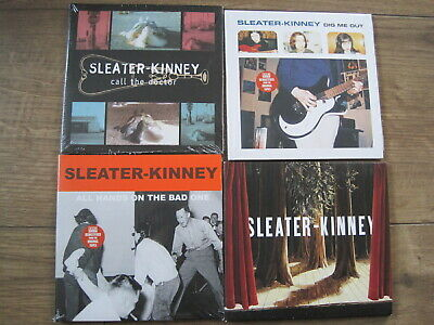 Sleater Kinney x 4 Remastered CDs - Dig Me Out, The Woods, All Hands On The Bad