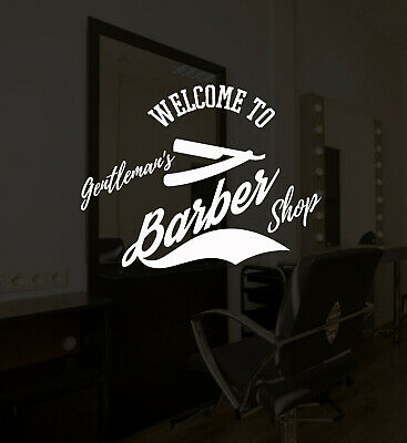 Vinyl Wall Decal Barber Shop Lettering Logo Hair Salon Stickers Mural (ig5231)