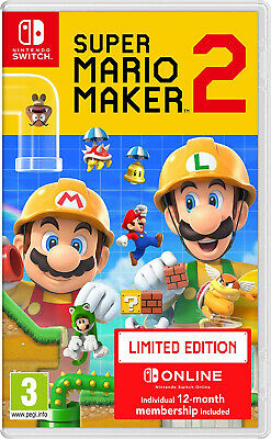 Switch Super Mario Maker 2 Limited Edition 12 monatige Mitgliedschaft inklusive