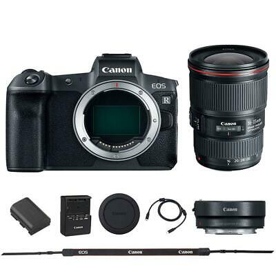 Canon EOS R Mirrorless Digital Camera with Canon 16-35mm 4L EF IS USM