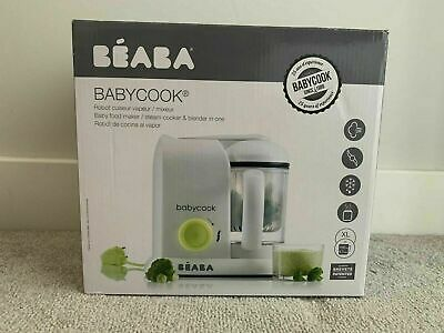 "NEW BEABA"" Babycook 4 in 1 Baby Food Maker Steam Cooker & Blender BOX DAMAGED"