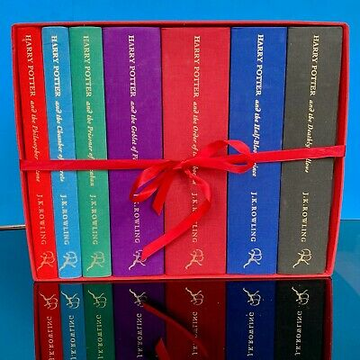 Harry Potter Deluxe Edition UK Bloomsbury Complete Set Hardback Books RARE LOGO