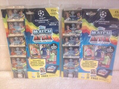 Topps Match Attax 2017/2018 UEFA Champions League Trading Cards 10x Packs