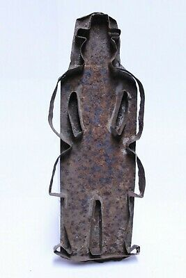 Nice Large Antique 19Th Century Flat Back Tin Amish Man Cookie Cutter
