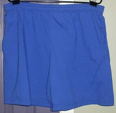 Very Nice Pair Of Mens Vintage Sky Blue Athletic Shorts Energy Zone Usa Xxl