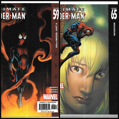 ULTIMATE SPIDER-MAN 59 & 65 Dr Octopus Peter Parker Mary Jane Gwen Stacy SHIELD