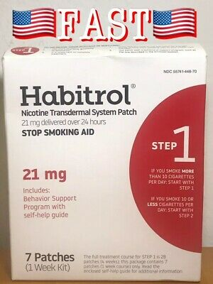 Habitrol Nicotine Transdermal System 7 Patchs, Stop Smoking Aid | Step 1 (21 Mg)