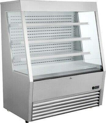 "Kool-It KOM-48 SS 48"" Vertical Open Display Case Merchandiser"
