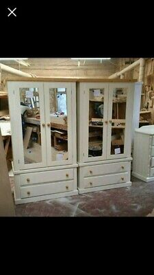 """""""Twin White Gents With Antique Tops  -  """" Free Assembly And Local Delivery!"""