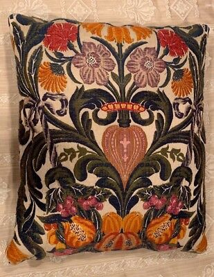 Cushion decorative pillow vintage antique tapestry