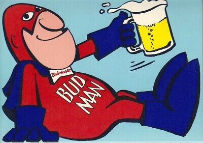 """Budweiser Beer Advertise Budman Icon Mancave Sign 13""""X19"""" Size Poster Print #4"""