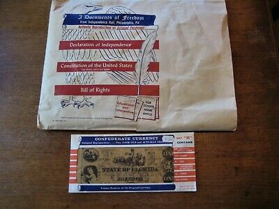 1956 Documents of Freedom Facsimile Set & Confederate Currency