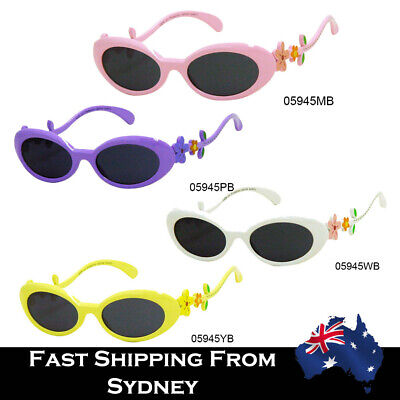 Kids Lovely Girls Sunglasses Polarized Colorful Flowers Arms Cute 100%UV Protect