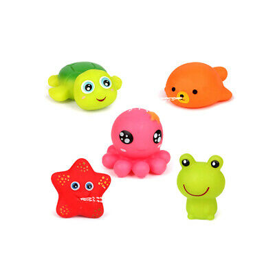 5PCS Bath Toy Set Cute Funny Water Squirter Spraying Toy Set for Toddlers Kids