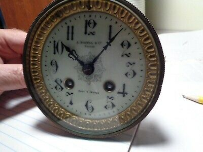 "Antique-French ""Japy"" Mantle Clock Movement-Ca.1900-To Restore-#T532"