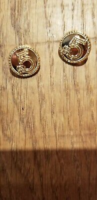 Lot of 2 Vintage Chanel round gold cc 5  Buttons 15  mm