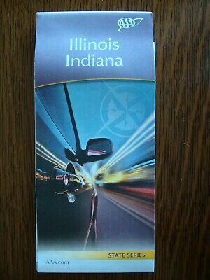 AAA ILLINOIS IL / INDIANA IN STATE Travel Road Map Vacation Roadmap 2019-2020