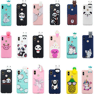 3D Cartoon Soft Silicone Phone Case For Xiaomi Redmi 6 Note 5 6 7 Pro Mi A2 6X