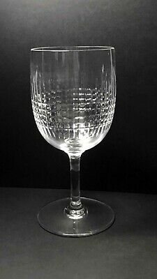 """Baccarat French Crystal Nancy (Cut) Tall Water Goblet- 6.75"""" X 3"""""""