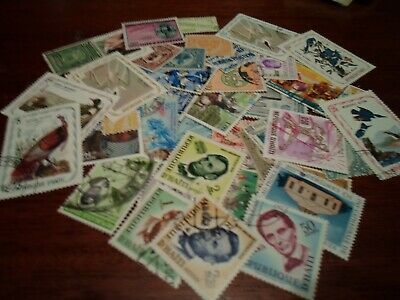 Collection lot 40 different stamps of Haiti