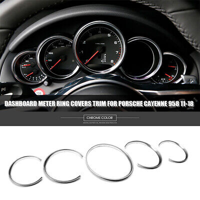 Red Car inside Dashboard Center Clock Ring decorative Cover For Porsche Cayenne